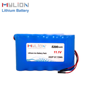 11.1V5200mAh Lithium ion battery pack