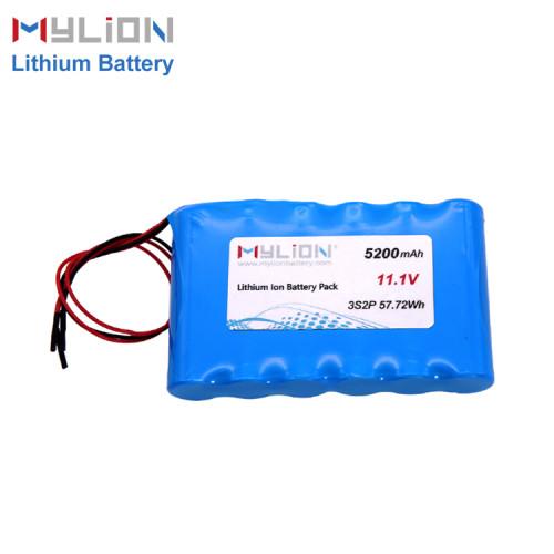 11.1V5200mAh Lithium ion battery pack