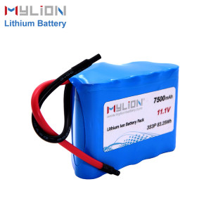 11.1V7500mAh Lithium ion battery pack