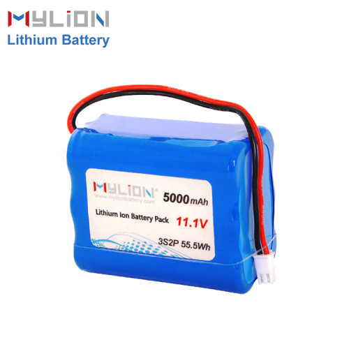 11.1V5000mAh Lithium ion battery pack