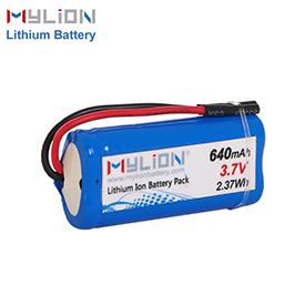 3.7v 640mah lithium battery pack