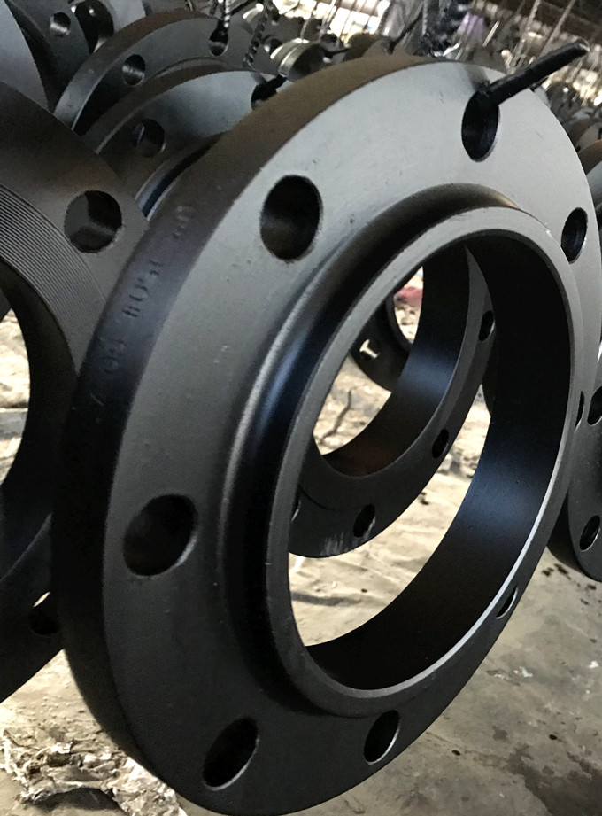 black painted flanges