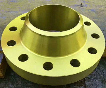 Yellow Painting of WN flanges