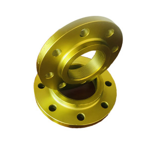 150lb A105 yellow painted threaded flanges