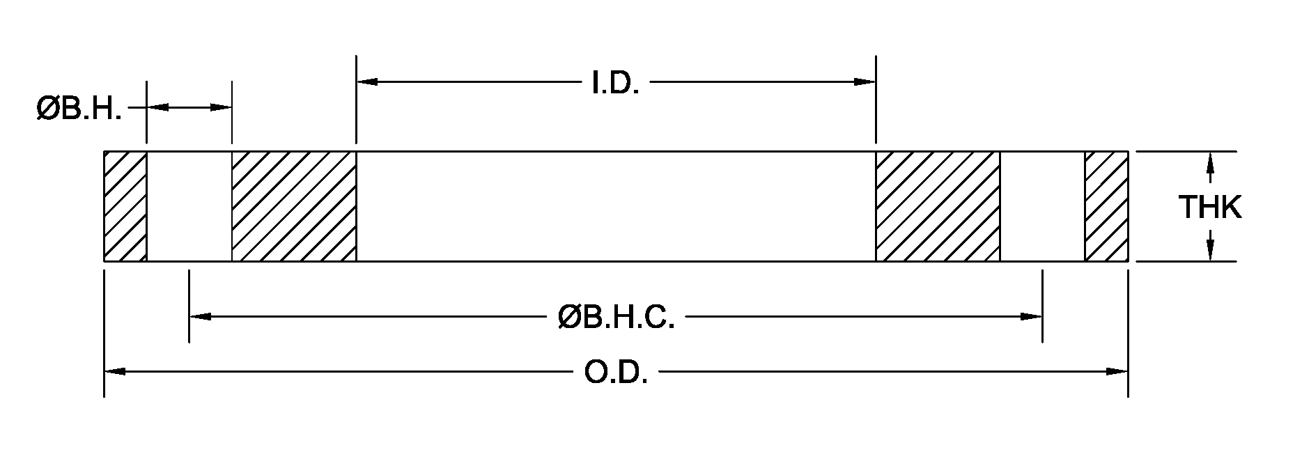 dimensions of DIN flanges