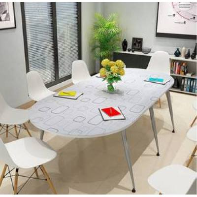 New Oval Table Staff Training Round Table Simple Modern Staff Negotiating Small Reception Table