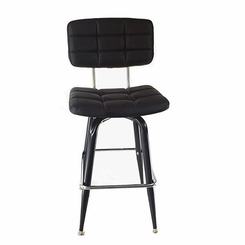 Nordic style furniture PU leather bar stool