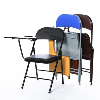 folding chairs with tablets for meetings school desks