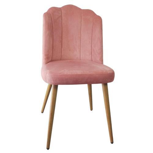 Simple high back restaurant velvet fabric chair