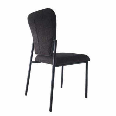 Dining room furniture metal seat frame fabric chair