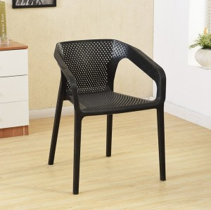 Minimal Comfortable Plastic Backrest Dining Chair