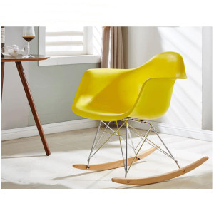 Home Furniture Fancy Plastic Living Room Chair With Steel Frame Rocking Chair