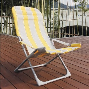 outdoor furniture leisure metal relax padded camping folding small portable beach chair