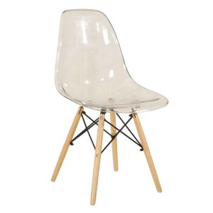 Hot selling high quality transparent plastic dining chair