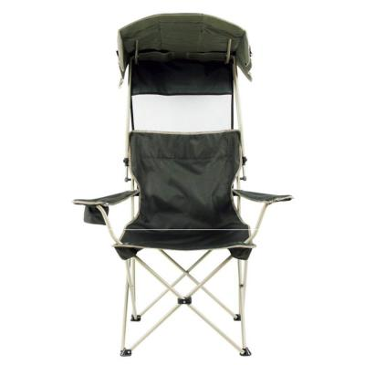 outdoor folding chair beach lightweight camping fishing sunshade chair with canopy