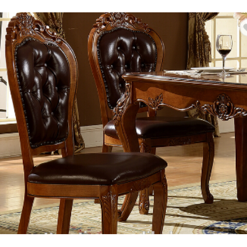 Classic style wooden leather dining chair,luxury dining chair