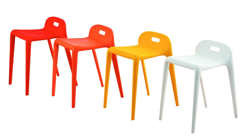 Modern plastic living room chairs