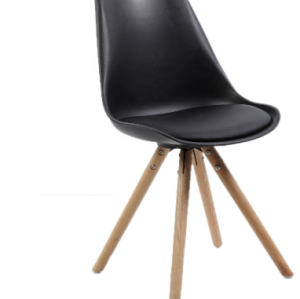 Nordic style hot selling wooden legs plastic chairs