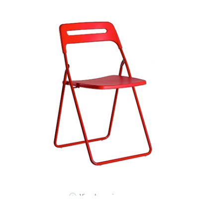 Hot selling metal backrest chair folding training chair