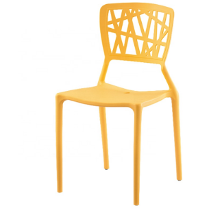 Chair with hollow outdoor stackable chair leisure dining chair