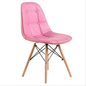 Leisure plastic Garden Chair With Solid Wood Legs Modern Chair