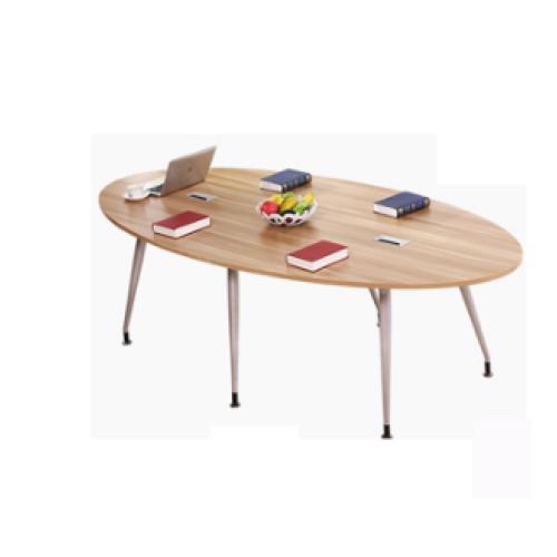 Aluminium alloy leg meeting table wooden small meeting table