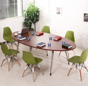 Aluminium alloy leg meeting table wooden small meeting table