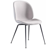 Modern Style Beautiful Leisure Chair Comfortable Cotton And Linen Fabric Chair Coffee Dining Chairs
