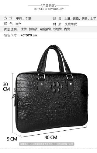 Custom Handmade Brown Computer Laptop Men Genuine Leather Bag Briefcase