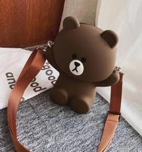 Cute Bear Shape Women Cross Shoulder Bag