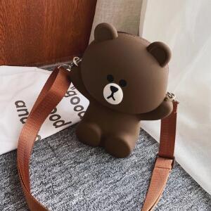 Cute Bear Shape Women Cross Shoulder Bag