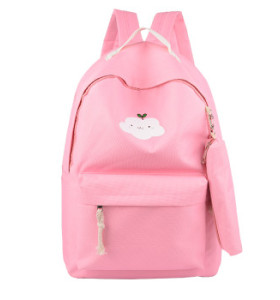 Wholesale Fashion Trendy Korean Style Cheap Casual Lightweight Canvas Laptop Bags School Backpack /piece MOQ3 piece