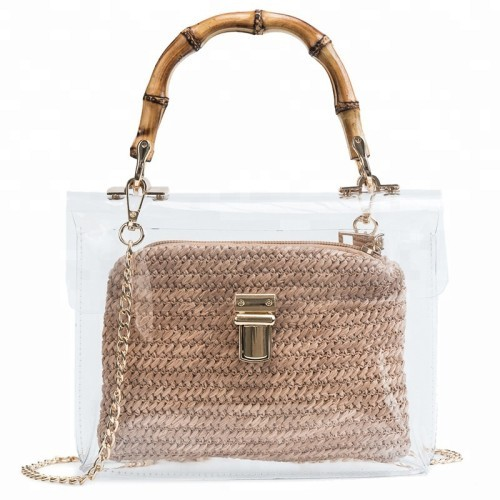 Ladies Handbags Customized Transparent 3d Soft Pvc Women Handbag Ladies Crossbody