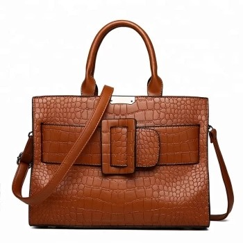 Custom Embossed PU Tote Bag Decorative Shoulder Handbag
