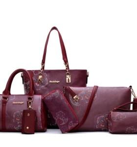 Women Tote Bags 6pcs Women Handbag