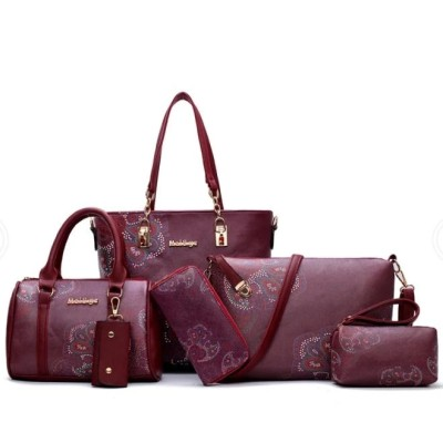 Women Tote Bags 6pcs Women Handbag