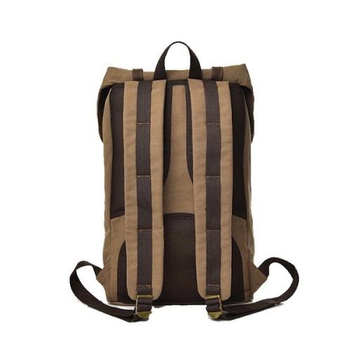 2019 Trending Fashion Large Capacity Khaki Canvas Men Backpack