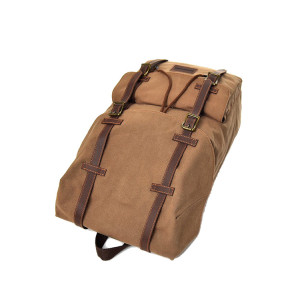 2019 Trending Fashion Large Capacity Khaki Canvas Men Backpack