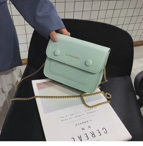 Trendy Multi Color Thin Chain Messenger Hand Bag