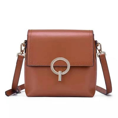 New Style Bag Ring Lock Small Ck Diagonal Span Single Shoulder Fashion Versatile Leather Bag