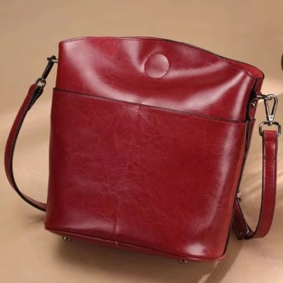 Pure Color Leather Cross Bag for Ladies