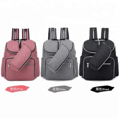 Fashion Backpack Large Capacity Waterproof Mommy Diaper Bag Set