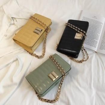 Gridding Pattern Rectangle Women Handbag