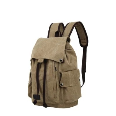 China Factory Custom Vintage Canvas Back Pack Male Rucksack Hipster Backpack Duffel Bag Leather and Canvas Backpack