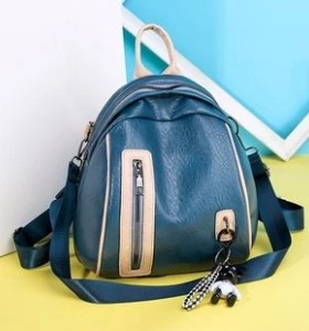 Fashion Color Contrast Lady Backpack