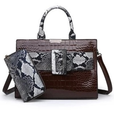 Woman Pure Color Handbags with Embossing