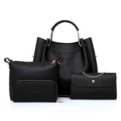PU Leather Ladies Handbags 4 Pieces Set Women Bag for Work Made in China