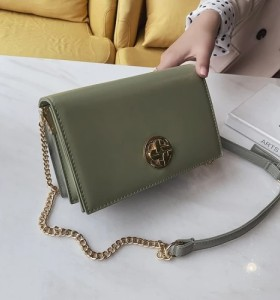 PU Fashion Package Hardware Rotary Lock Women Shoulder Bag