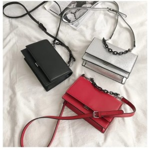 Women Chain Bag Fashion PU Crossbody Bag