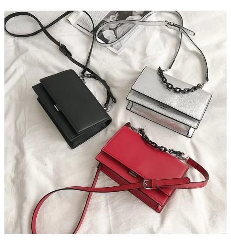 Women Chain Bag Fashion PU Crossbody Bag